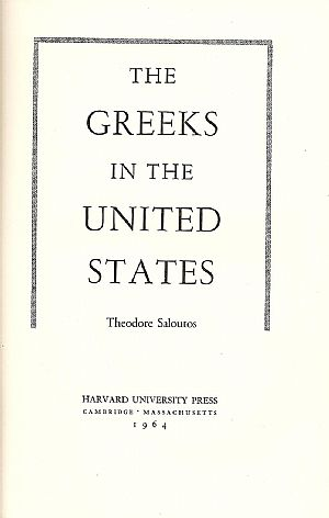 The Greeks in the United States